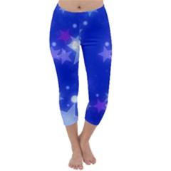 Star Bokeh Background Scrapbook Capri Winter Leggings