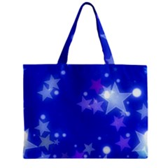 Star Bokeh Background Scrapbook Zipper Mini Tote Bag