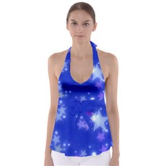 Star Bokeh Background Scrapbook Babydoll Tankini Top
