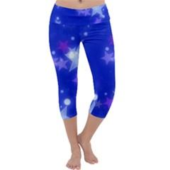 Star Bokeh Background Scrapbook Capri Yoga Leggings