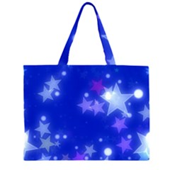 Star Bokeh Background Scrapbook Large Tote Bag