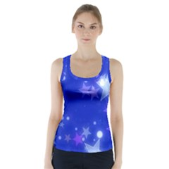 Star Bokeh Background Scrapbook Racer Back Sports Top