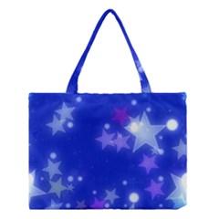 Star Bokeh Background Scrapbook Medium Tote Bag