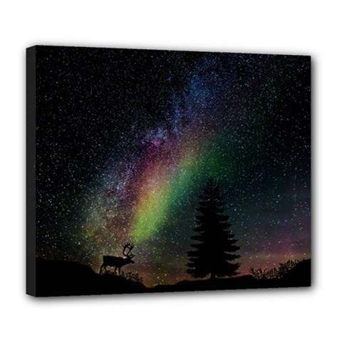 Starry Sky Galaxy Star Milky Way Deluxe Canvas 24  x 20