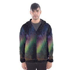 Starry Sky Galaxy Star Milky Way Hooded Wind Breaker (Men)