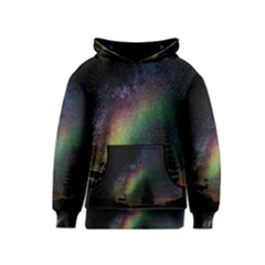 Starry Sky Galaxy Star Milky Way Kids  Pullover Hoodie