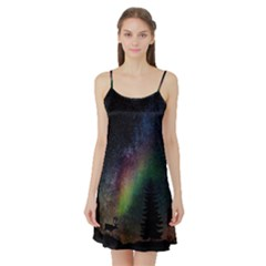 Starry Sky Galaxy Star Milky Way Satin Night Slip