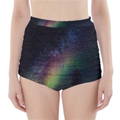 Starry Sky Galaxy Star Milky Way High-Waisted Bikini Bottoms