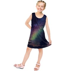 Starry Sky Galaxy Star Milky Way Kids  Tunic Dress