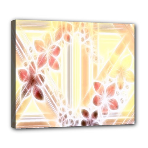 Swirl Flower Curlicue Greeting Card Deluxe Canvas 24  x 20