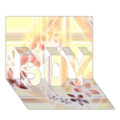 Swirl Flower Curlicue Greeting Card BOY 3D Greeting Card (7x5)