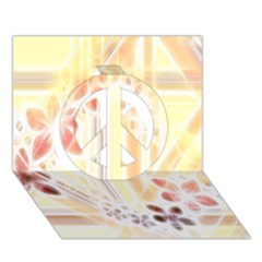 Swirl Flower Curlicue Greeting Card Peace Sign 3D Greeting Card (7x5)
