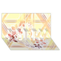 Swirl Flower Curlicue Greeting Card SORRY 3D Greeting Card (8x4)