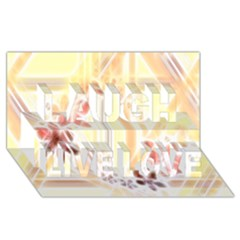 Swirl Flower Curlicue Greeting Card Laugh Live Love 3D Greeting Card (8x4)