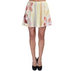 Swirl Flower Curlicue Greeting Card Skater Skirt