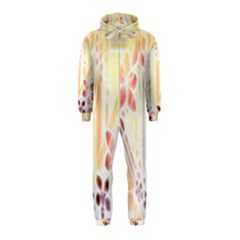 Swirl Flower Curlicue Greeting Card Hooded Jumpsuit (Kids)