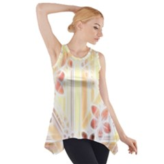 Swirl Flower Curlicue Greeting Card Side Drop Tank Tunic