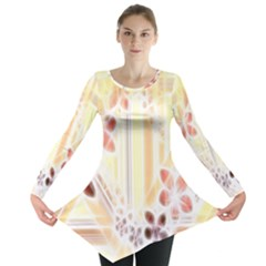 Swirl Flower Curlicue Greeting Card Long Sleeve Tunic