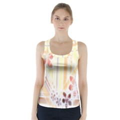 Swirl Flower Curlicue Greeting Card Racer Back Sports Top