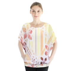 Swirl Flower Curlicue Greeting Card Blouse