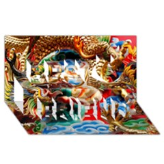 Thailand Bangkok Temple Roof Asia Best Friends 3D Greeting Card (8x4)