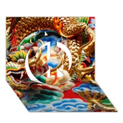 Thailand Bangkok Temple Roof Asia Peace Sign 3D Greeting Card (7x5)