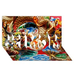 Thailand Bangkok Temple Roof Asia #1 MOM 3D Greeting Cards (8x4)