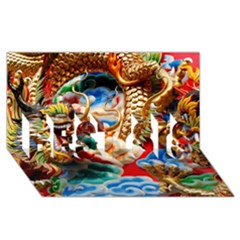 Thailand Bangkok Temple Roof Asia BEST SIS 3D Greeting Card (8x4)