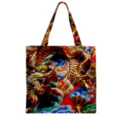 Thailand Bangkok Temple Roof Asia Zipper Grocery Tote Bag
