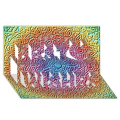 Tile Background Pattern Texture Best Wish 3D Greeting Card (8x4)