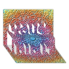 Tile Background Pattern Texture You Did It 3D Greeting Card (7x5)