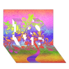 Tree Colorful Mystical Autumn LOVE 3D Greeting Card (7x5)