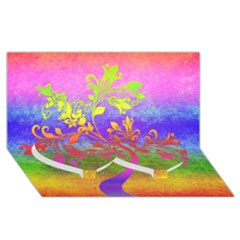 Tree Colorful Mystical Autumn Twin Heart Bottom 3D Greeting Card (8x4)