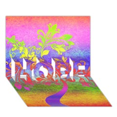 Tree Colorful Mystical Autumn HOPE 3D Greeting Card (7x5)