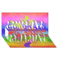 Tree Colorful Mystical Autumn Congrats Graduate 3D Greeting Card (8x4)