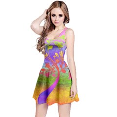 Tree Colorful Mystical Autumn Reversible Sleeveless Dress