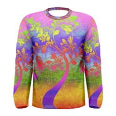 Tree Colorful Mystical Autumn Men s Long Sleeve Tee