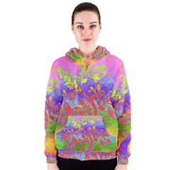 Tree Colorful Mystical Autumn Women s Zipper Hoodie