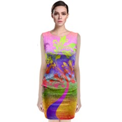 Tree Colorful Mystical Autumn Classic Sleeveless Midi Dress