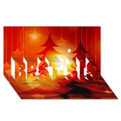 Tree Trees Silhouettes Silhouette BEST SIS 3D Greeting Card (8x4)