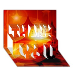 Tree Trees Silhouettes Silhouette THANK YOU 3D Greeting Card (7x5)