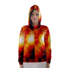 Tree Trees Silhouettes Silhouette Hooded Wind Breaker (Women)