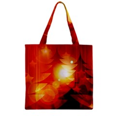 Tree Trees Silhouettes Silhouette Zipper Grocery Tote Bag