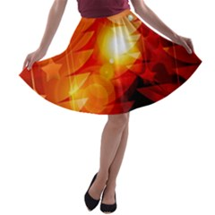 Tree Trees Silhouettes Silhouette A-line Skater Skirt