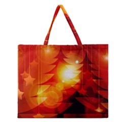 Tree Trees Silhouettes Silhouette Zipper Large Tote Bag