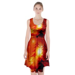 Tree Trees Silhouettes Silhouette Racerback Midi Dress