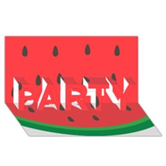 Watermelon Fruit PARTY 3D Greeting Card (8x4)