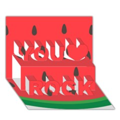 Watermelon Fruit You Rock 3D Greeting Card (7x5)