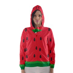 Watermelon Fruit Hooded Wind Breaker (Women)