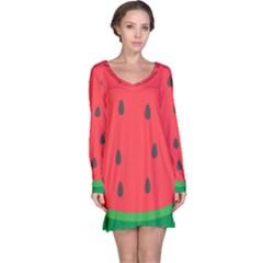 Watermelon Fruit Long Sleeve Nightdress